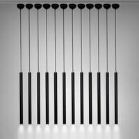 LukLoy 3cm Cylinder Aluminum Lamp Lights Pendant Chandelier For Study Room Kitchen Island Dining Living Room
