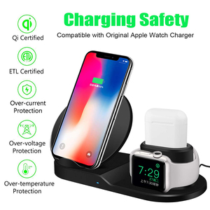 Image 4 - Qi Wireless 3 in 1 ผู้ถือขาตั้ง Station Charger 7.5W สำหรับ IWatch 5 4 3 2 IPhone 11 PRO MAX XS MAX XR นาฬิกา Apple Airpods 1 Dock