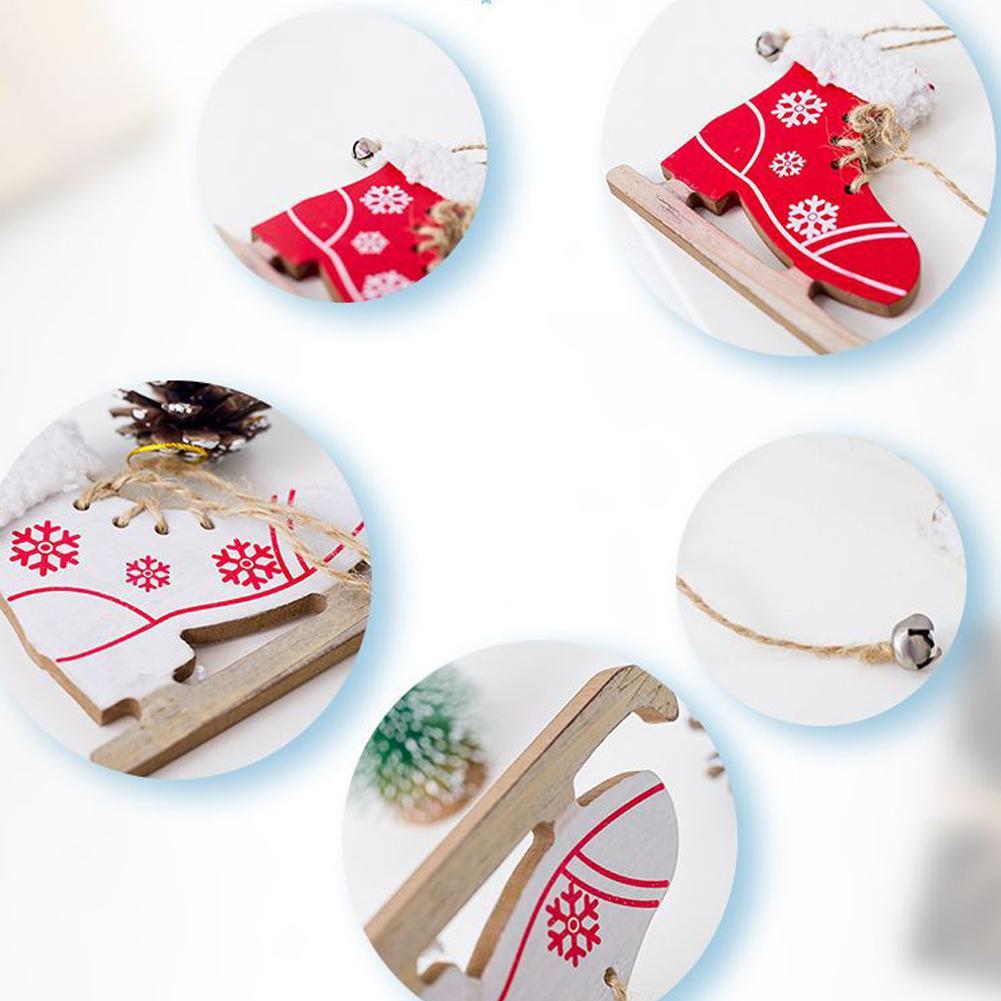 Diamond Innovative Skates Ski Shoes Pendant Christmas Painted Decorative Pendant Christmas Tree Christmas Home Decorations