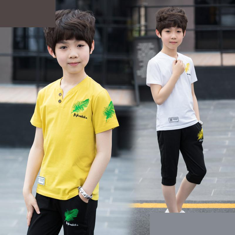 Spring Kids Sport Tracksuit 2018 Boys Clothing Set Children Clothing Sets Kids Clothes Boy Suits T-shirts + Pants Moda Infantil