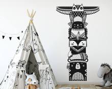 Woodland Animal Nursery Kids Room Decoration Tribal Friends Art Design Wall Sticker Fashion Decals Decor W40