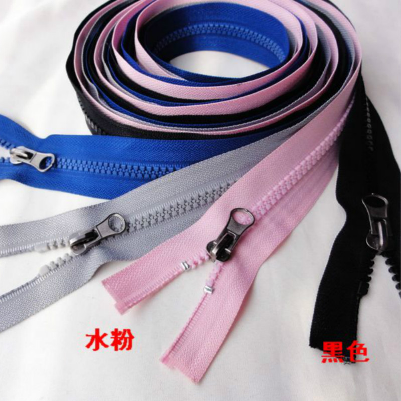 2 PCS/LOT 59 LONG RESIN Zipper Double SLIDER 2 WAY FOR FOR Hood Down Coat SEWING Accessories