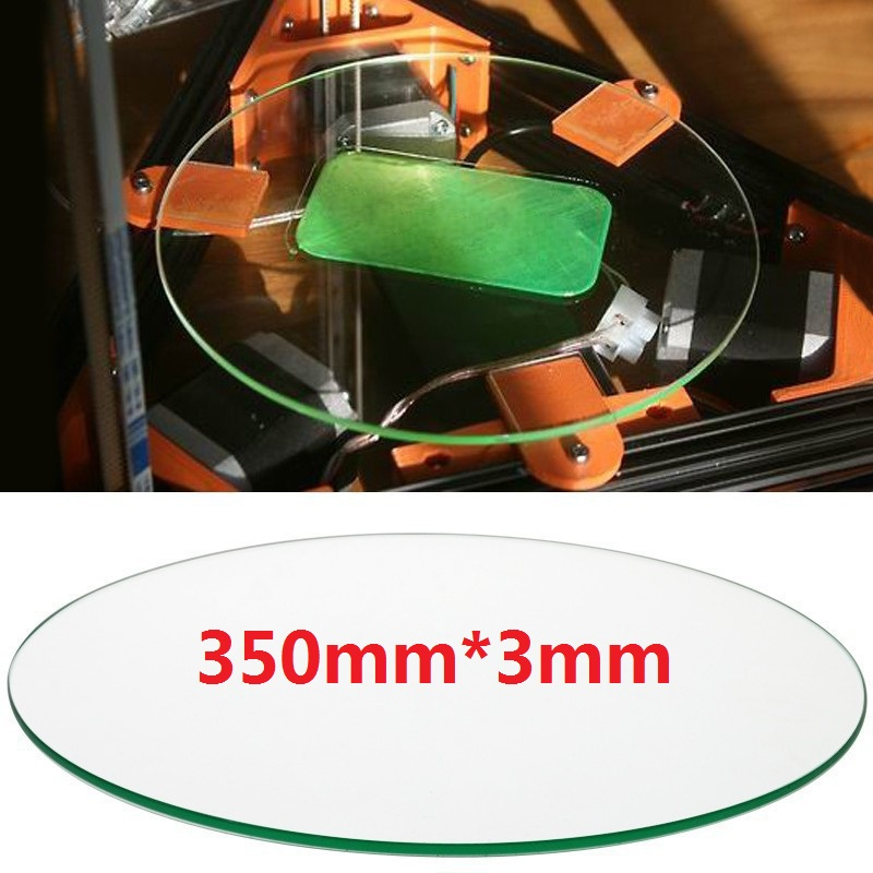 лучшая цена Diameter 350mm thickness 3mm Borosilicate Glass plate for 3D printer kit part Rostock delta KOSSEL 350mm diameter