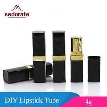 Sedorate 30 pcs/Lot 4g Cosmetic Container Vintage Black Empty Lipstick Tubes Wholesale Plastic Empty Balm Tubes Case JX046-1
