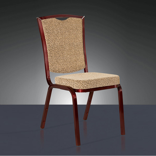 wholesale quality strong aluminum hotel banquet chair LQ-L1038 gold aluminum hotel chair