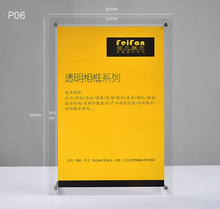10 pcs desktop 12 inch Acrylic certificate frame picture photo frame stand PMMA label poster banner tag sign holder
