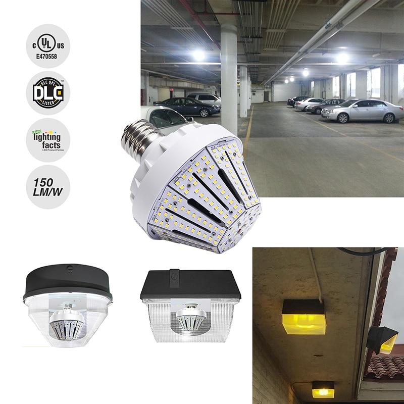 60W E27 LED Corn Bulb Lamp 110V 220V Medium Mogul Base Street Wall Post Top Canopy Light Power LED Retro Lamp Bulbs pink flower print fit