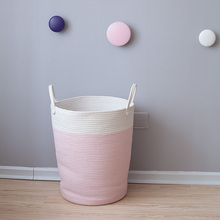 Home Cotton Rope Storage Basket with Handles