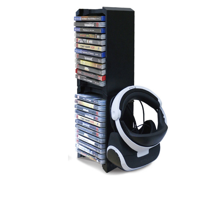 PS4/PS4 Slim/PS4 Pro Storage Stand,Dual Large Storage Stand with Game Disk Tower for PS4/P4Slim/PS4 Pro/Xbox One S/PS4 VR цена и фото
