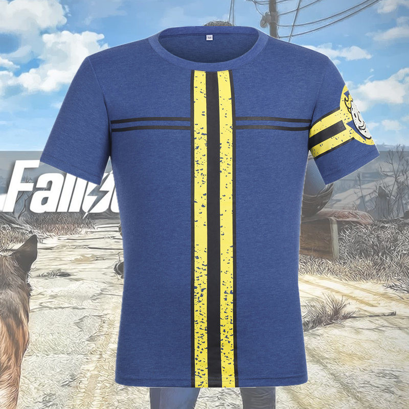 Game Fallout 4 Nate Costume Cosplay Sole 111 Survivor Popular T-shirt Halloween Costume Superhero Unisex Tops