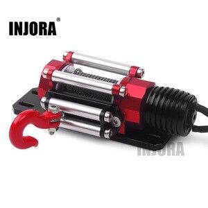 Image 1 - INJORA RC metalowy samochód stalowy przewodowy automatyczny symulowany wciągarka do 1/10 gąsienica RC oś samochodu SCX10 90046 D90 Traxxas TRX4
