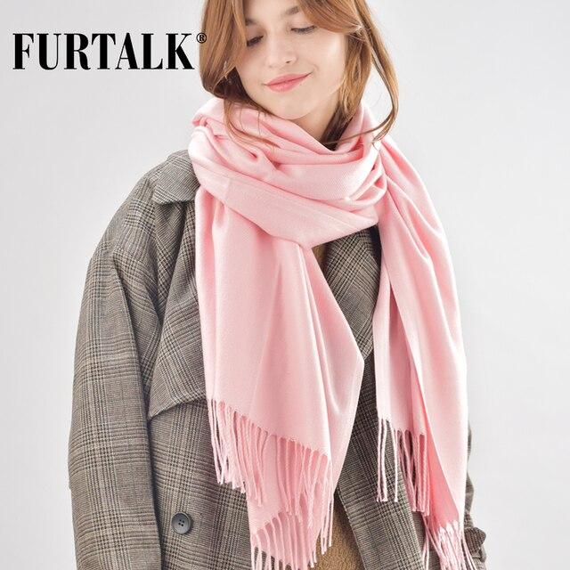 c9a15a1fc260 FURTALK femmes d hiver écharpe en cachemire laine poncho foulards de luxe  marque pour filles