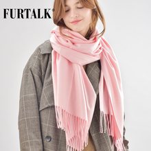FURTALK women winter scarf cashmere wool poncho scarves luxury brand for girls SFFW005(China)
