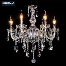 SHIXNIMAO Eléctrico de Lujo Araña de Cristal 6Arm/8Arm/10Arm/15Arm Crystal lámpara de Cristal Chandelier02