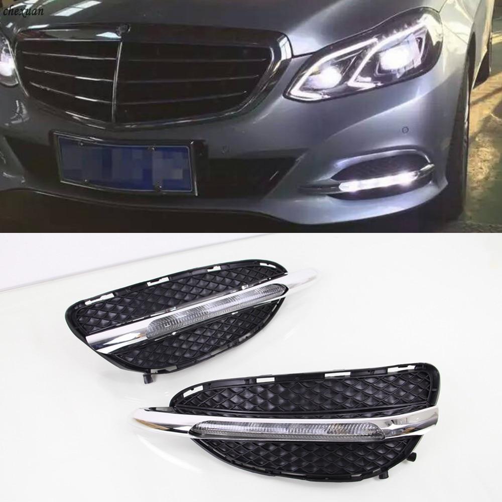 Car Flashing 1 Set DRL Daytime Running Lights Daylight Turn Signal For Mercedes Benz W212 E Class E180 E200 E260 E320 2014 2015