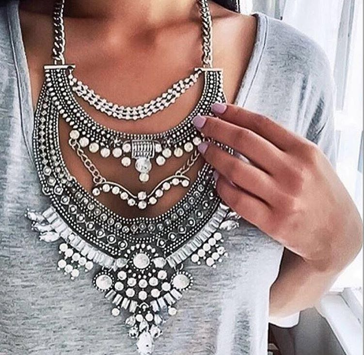 Fashion Necklaces Pendant Women 2016 Crystal Choker Jewelry Collares Collier Femme Bib Boho Vintage Statement Chunky