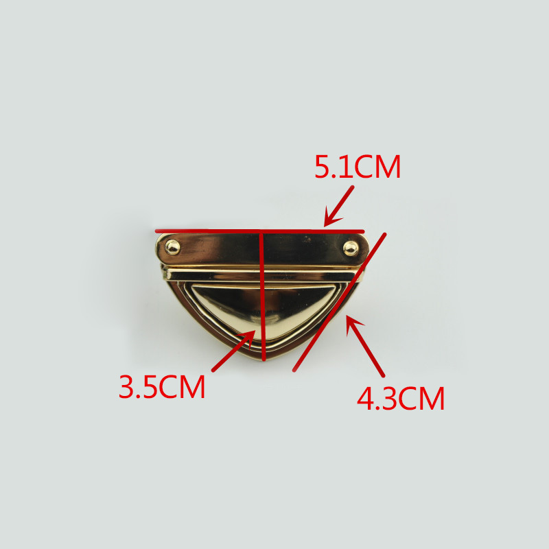 AEQUEEN DIY Bag Accessories Parts Metal Turn Clasp Closure For