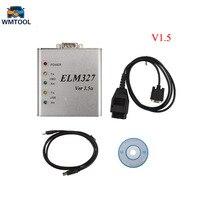 Metal Aluminum ELM327 V1 5 OBD2 Auto Diagnostic Tool ELM 327 V1 5a OBD OBDII ELM327