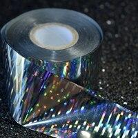 1 Lot 120 Meters Nail Foil Holographic Silver Nail Art DIY Glue Transfer Sticker Foil Wholesale