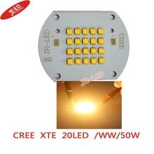 Cree XLamp XTE 50W Led Warm Whitewith20led High Power LED 2800-3000K Light Lamp Copper PCB For House/Street Illumination