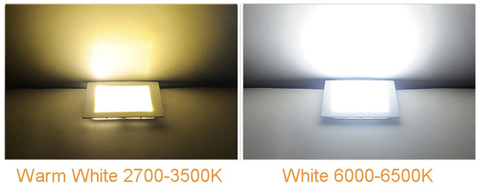 25W Square LED Panel Light Recessed Kitchen Bathroom Ceiling Lamp AC85-265V LED Downlight Warm WhiteCool White Free shipping (17)