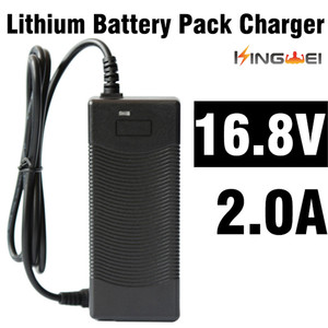 Image 1 - KingWei 1pcs DC 16.8V 2A AC 100V 240V Adapter Converter Power Supply Power Adapter Wall Charger for 18650 Lithium Battery
