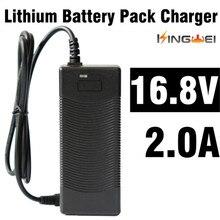 Kingwei 1pcs dc 16.8 v 2a ac 100 v 240 v 어댑터 변환기 전원 공급 장치 전원 어댑터 벽 충전기 18650 리튬 배터리