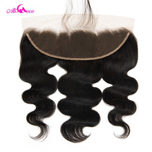 Ali Coco Hair Brazilian Body Wave Lace Frontal With Baby Hair Natural Color 2 4 8