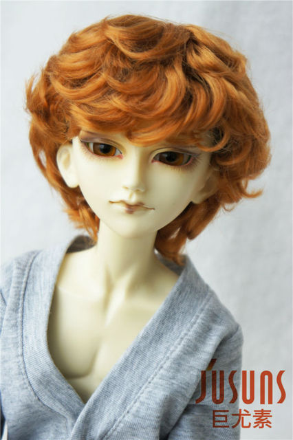 1/4 MSD doll wig  synthetic mohair wig 7-8 inch Cupid BJD hair doll accessories