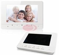 Intercom Systeem Voor Thuis Interphone Monitor Video Telefoon Intercom 7 inch Kleuren TFT LCD Indoor Monitor Witte En Zwarte Kleur kiezen