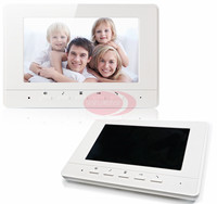 Intercom System For Home Interphone Monitor Video Phone Intercom 7inch Color TFT LCD Indoor Monotor White