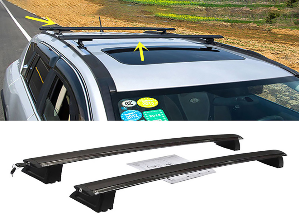 XBEEK Roof Racks Boxes For Jeep Grand Cherokee 2011-2016 Aluminum Alloy Car Roof Luggage Rack Cross Bars For Grand Cherokee