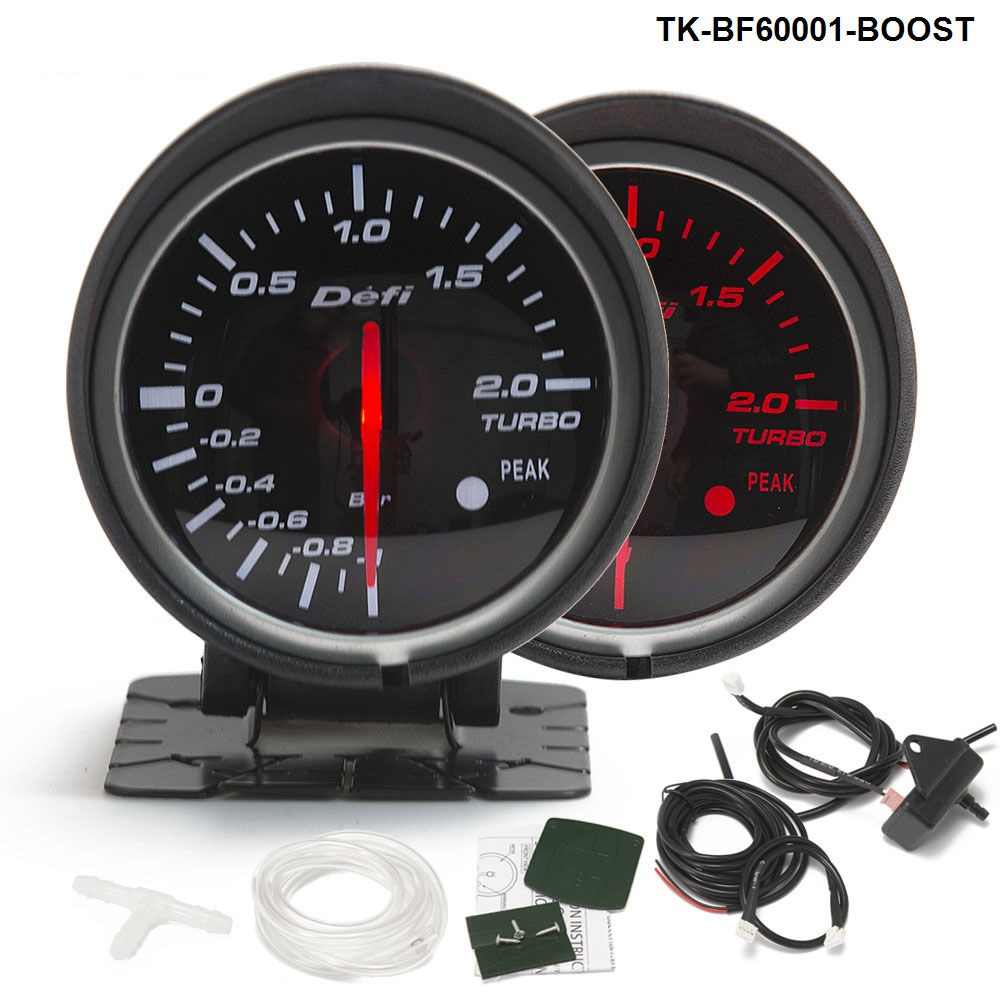 Universal DF BF Style Racing Gauge Car Turbo  Boost Gauge with Red & White Light For Ford Mustang 01-07 TK-BF60001-BOOST
