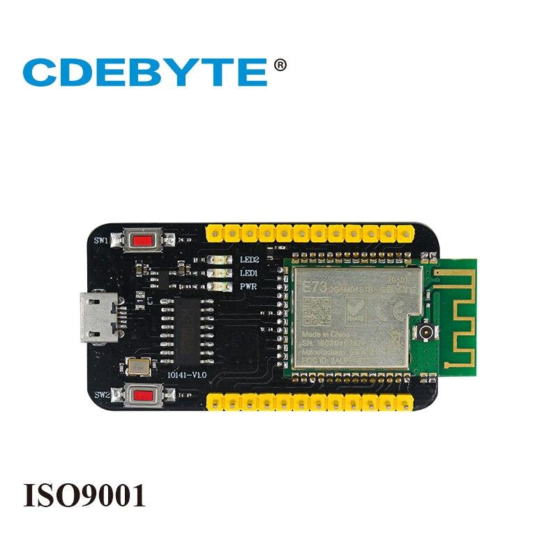 Placa de prueba de E73-TBB para Bluetooth ARM nRF52832 2,4 Ghz 2,5 mW IPX Antena de PCB IoT uhf, transceptor inalámbrico Ble 5,0 rf