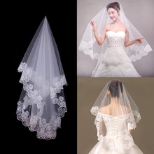 Wedding Veil White Edge Bridal Veil Wedding Engagement Party Decoration Bride To Be Hen Party Wedding Accessories fengrise white artificial rose bridal veil wedding decoration silk girl veil bachelorette party bride to be hen party decoration
