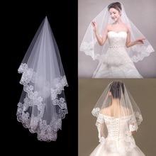 Wedding Veil White Edge Bridal Engagement Party Decoration Bride To Be Hen Accessories