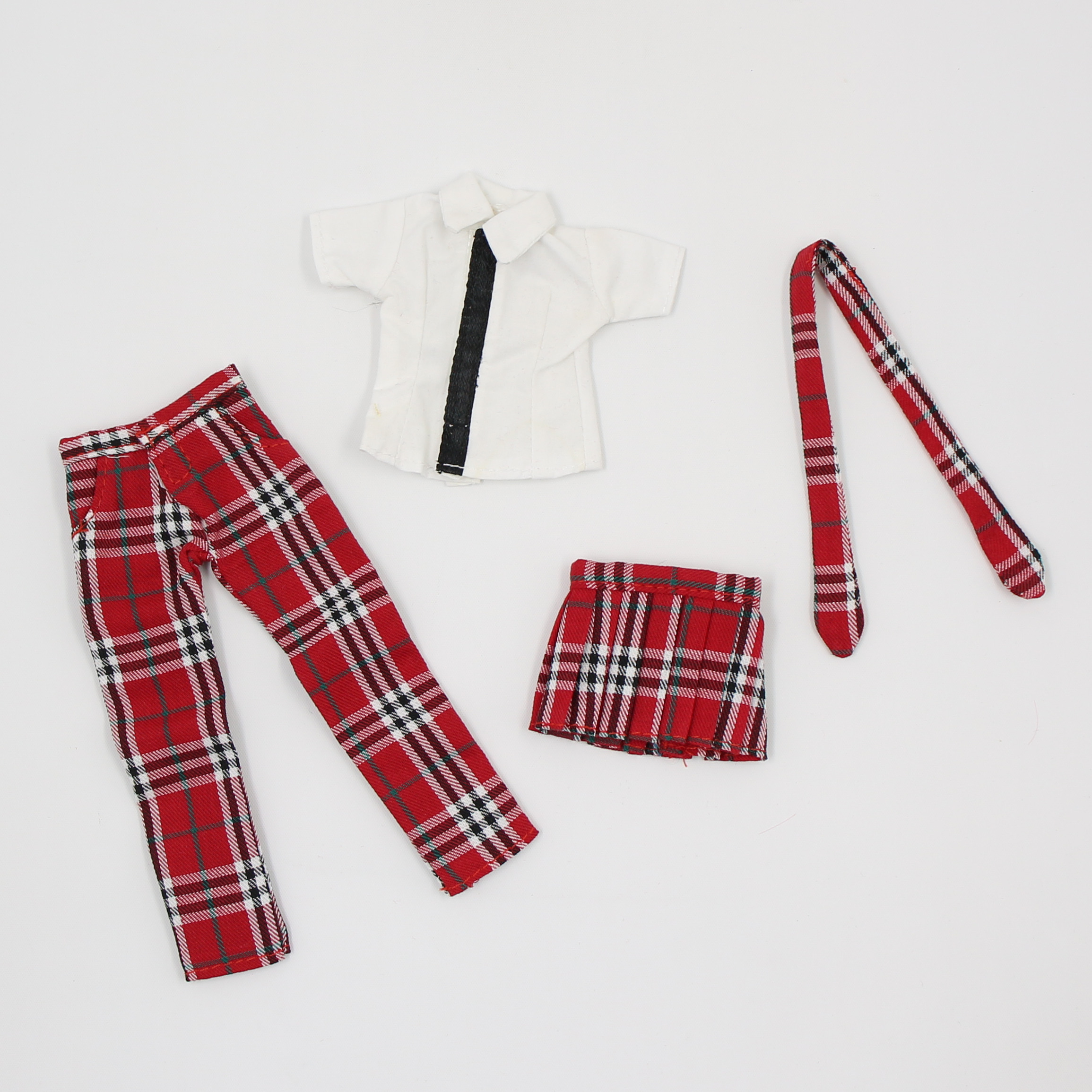 blyth doll icy licca Red Plaid Uniform skirt pants suit clothes gift toy(China)