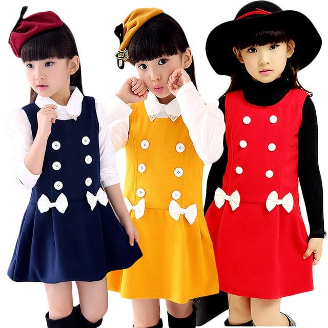 b92ba59df Girls Vest Dress Spring Autumn Winter Sleeveless Kids Girl Princess ...