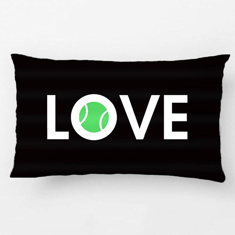 Tennis Ball Love Pillow Wedding Decorative Cushion Cover