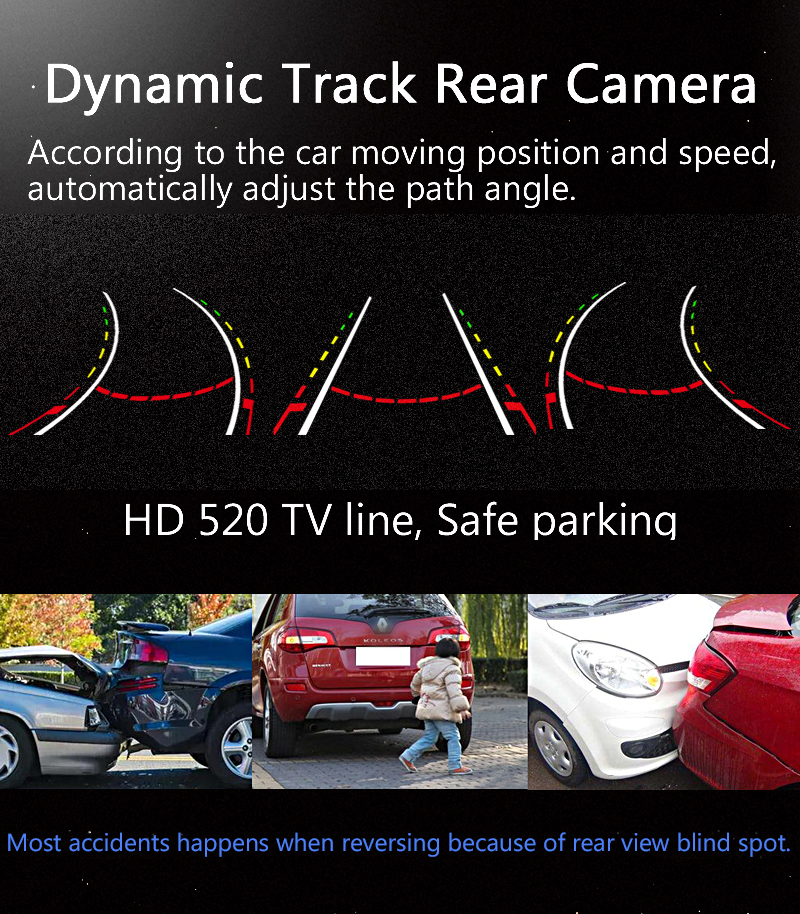 Dynamic Track Rear View Camera For BMW 3 Series 5 Series BMW E39 E46 Backup Night Vision Vehicle Camera Parking Assistance 2