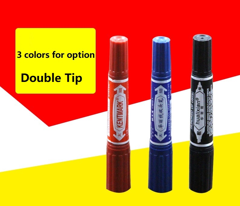 Permanent marker Indelible Waterproof Pens Dual Side Writing two side smooth writing logistics WSPM-502