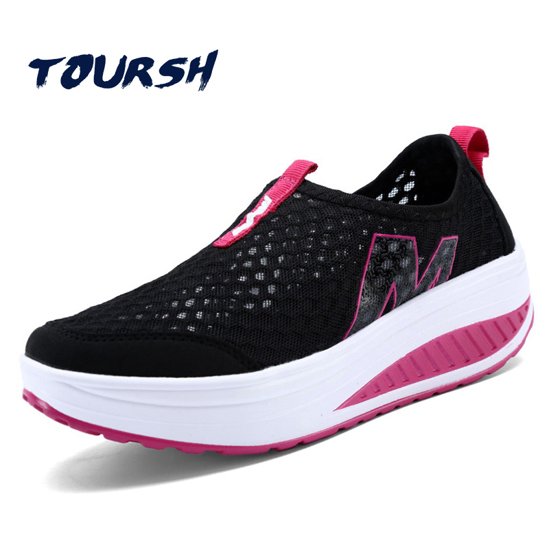 New 2018 Hot Summer Women Flat Platform Shoes Woman Sneakers Casual Air Mesh Breathable Shoes Slip On Fabric Shoes zapatos mujer pinsen 2017 summer women flat platform sandals shoes woman casual air mesh comfortable breathable shoes lace up zapatillas mujer