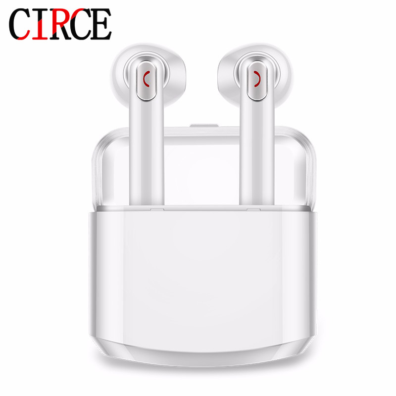 CIRCE IPX TWS Wireless Earphone Bluetooth Earphones Pair In-Ear Music Earbuds Set For Apple iPhone 7 8 Samsung Xiaomi tws wireless earphones bluetooth earphone pair in ear music earbuds set for apple iphone 6 7 samsung xiaomi sony head phone md1