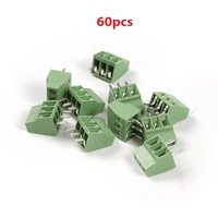 Wholesale 60pcs Set 2 And 3 Pins Splice 2 54mm Pin Distance PCB Universal Screw Terminal
