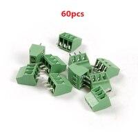 Wholesale 60pcs Set 2 And 3 Pins Splice 2 54mm Pin Distance PCB Universal Screw Terminal