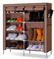 House Scenery Double Row Fold Non-Woven Fabric Shoe Racks Assemble Shoes Storage Lockers Large Capacity Cabinet For Living Room