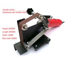 купить Electric Belt Sander Angle Grinder Metal Wood Sanding Belt M10/M14 Adapter for Grinder Metal Polishing Woodworking Tools по цене 3114.45 рублей