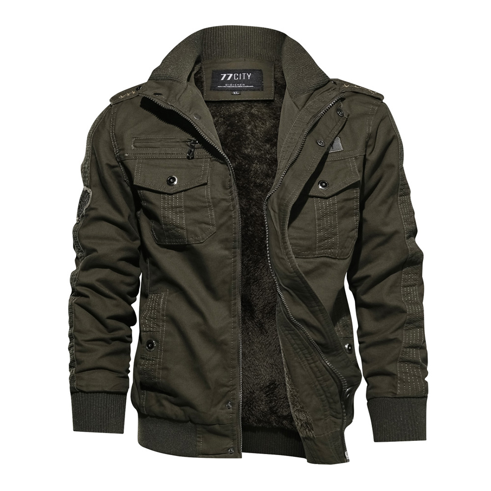 Plus Size Men Army green Jacket Long Sleeve  Stand Collar Military Casual Men Black Goth Jacket Fashion Coat