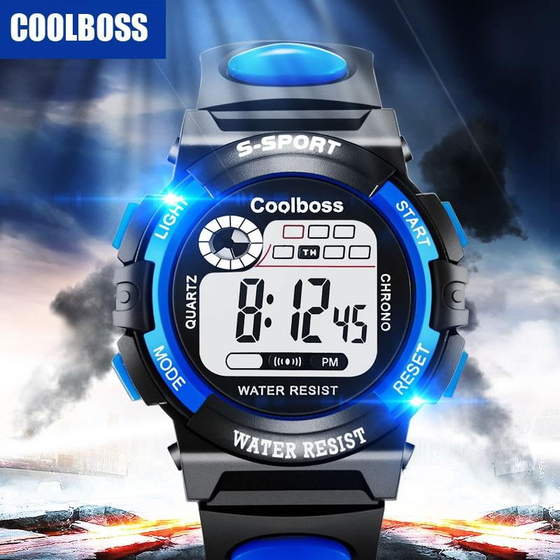 Children Watch Boy Digital LED Quartz Alarm Date Sports Wrist Watch Silicone Male Sports Watch Waterproof Relogio Girls Military