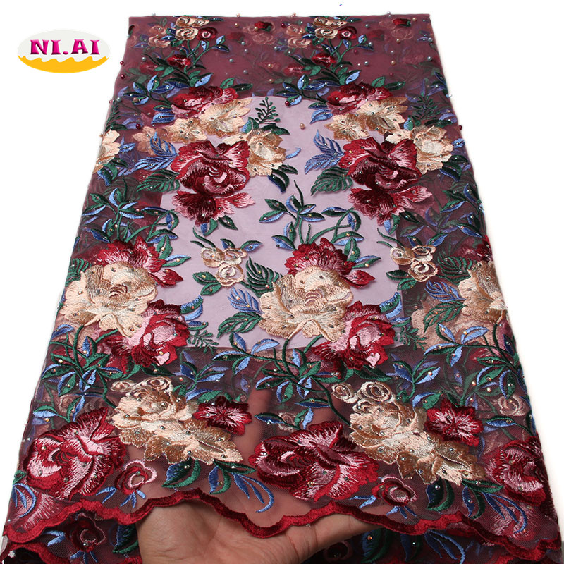 Aliexpress.com : Buy Latest french tulle lace fabric Pink